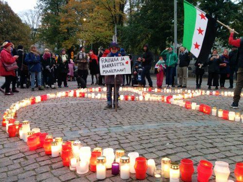 Syyrian sodalle vaadittiin loppua Helsingissä