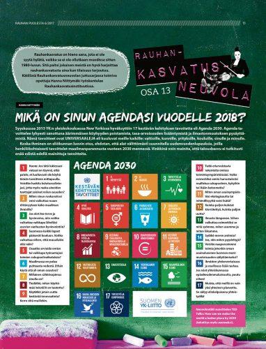 Rauhankasvatusneuvola 13: Mikä on sinun Agendasi vuodelle 2018?