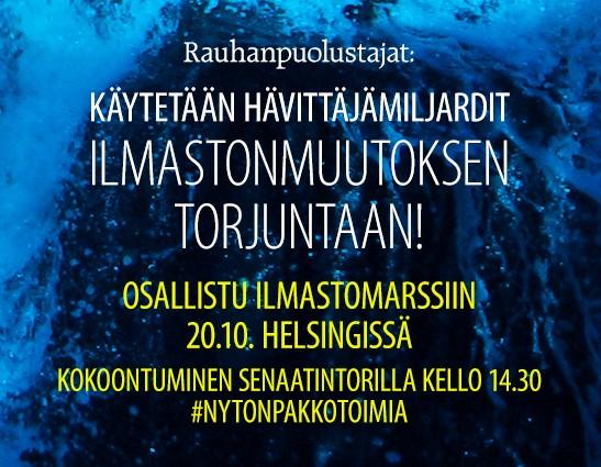 Ilmastomarssi - #NytOnPakko, Helsinki