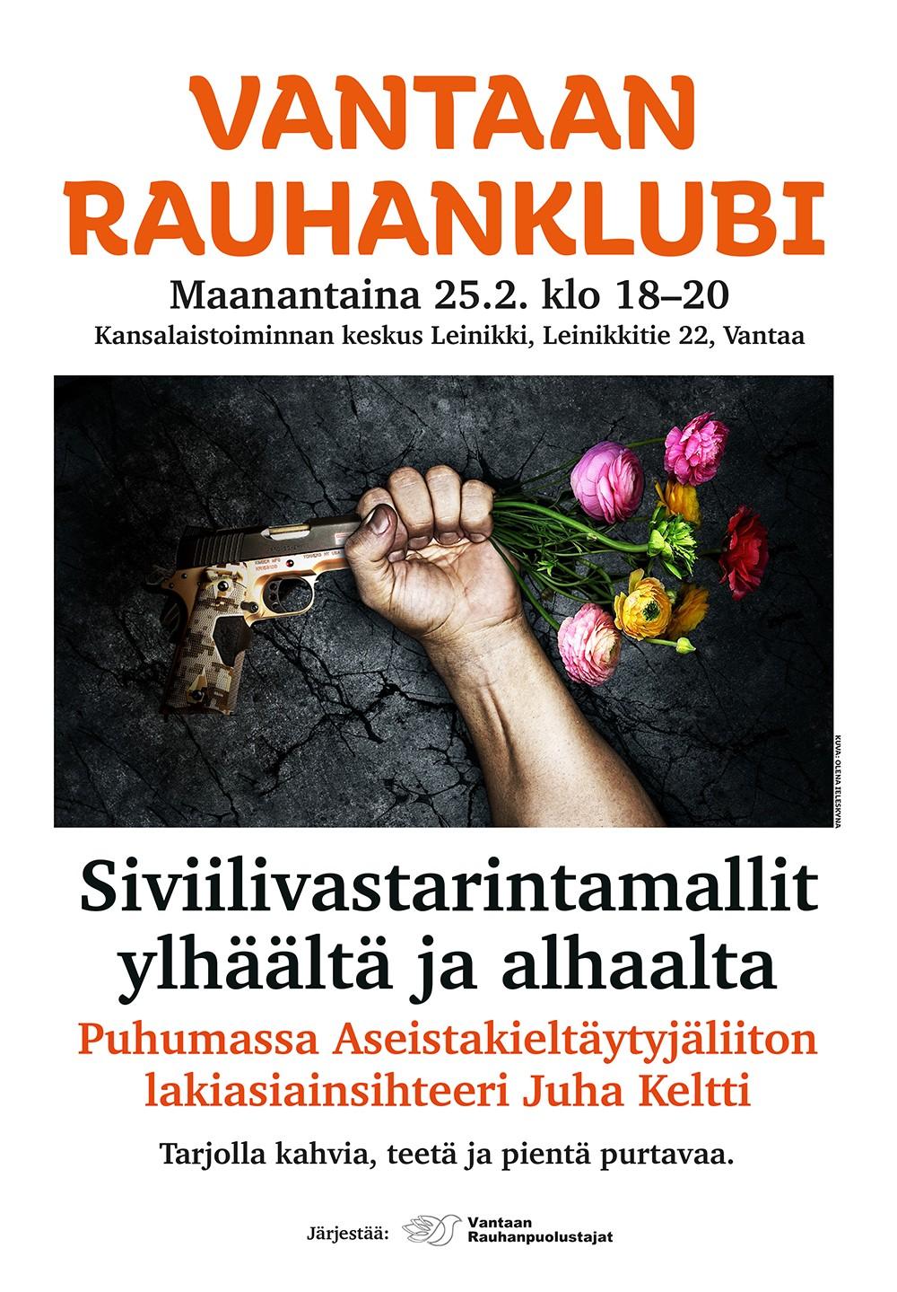 Vantaan rauhanklubi: Siviilivastarintamallit, Vantaa