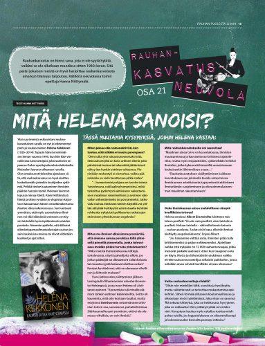 Rauhankasvatusneuvola 21: Mitä Helena sanoisi?