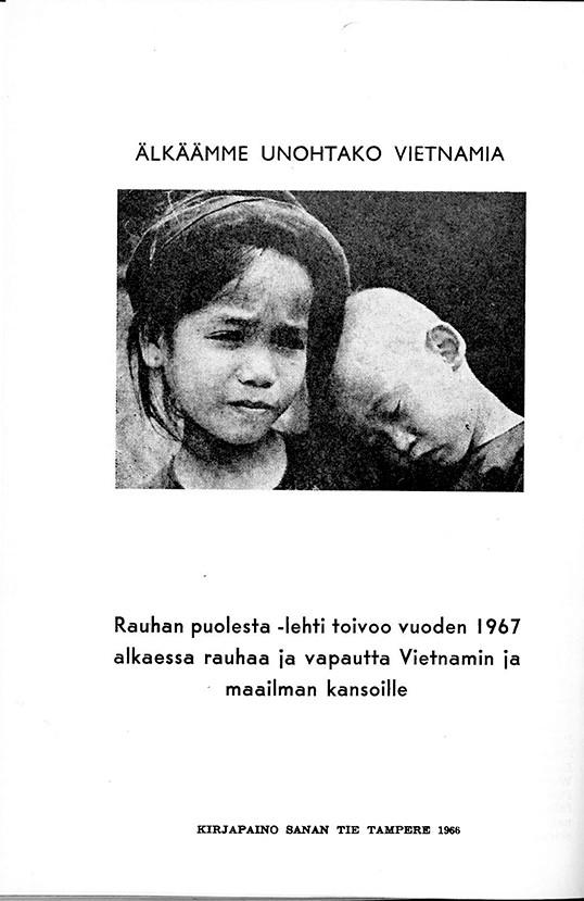 Rauhan Puolesta -lehti 60-luvulla