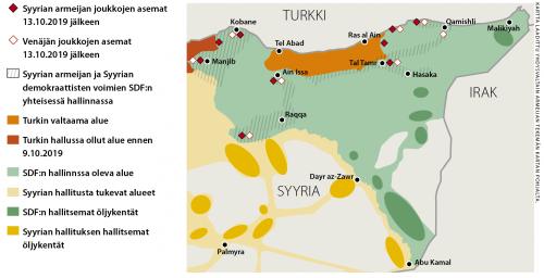 Kartta laadittu Yhdysvaltain armeijan tekemän kartan pohjalta.