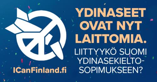 Ydinaseet kiellettiin – Suomea vaaditaan liittymään kieltosopimukseen