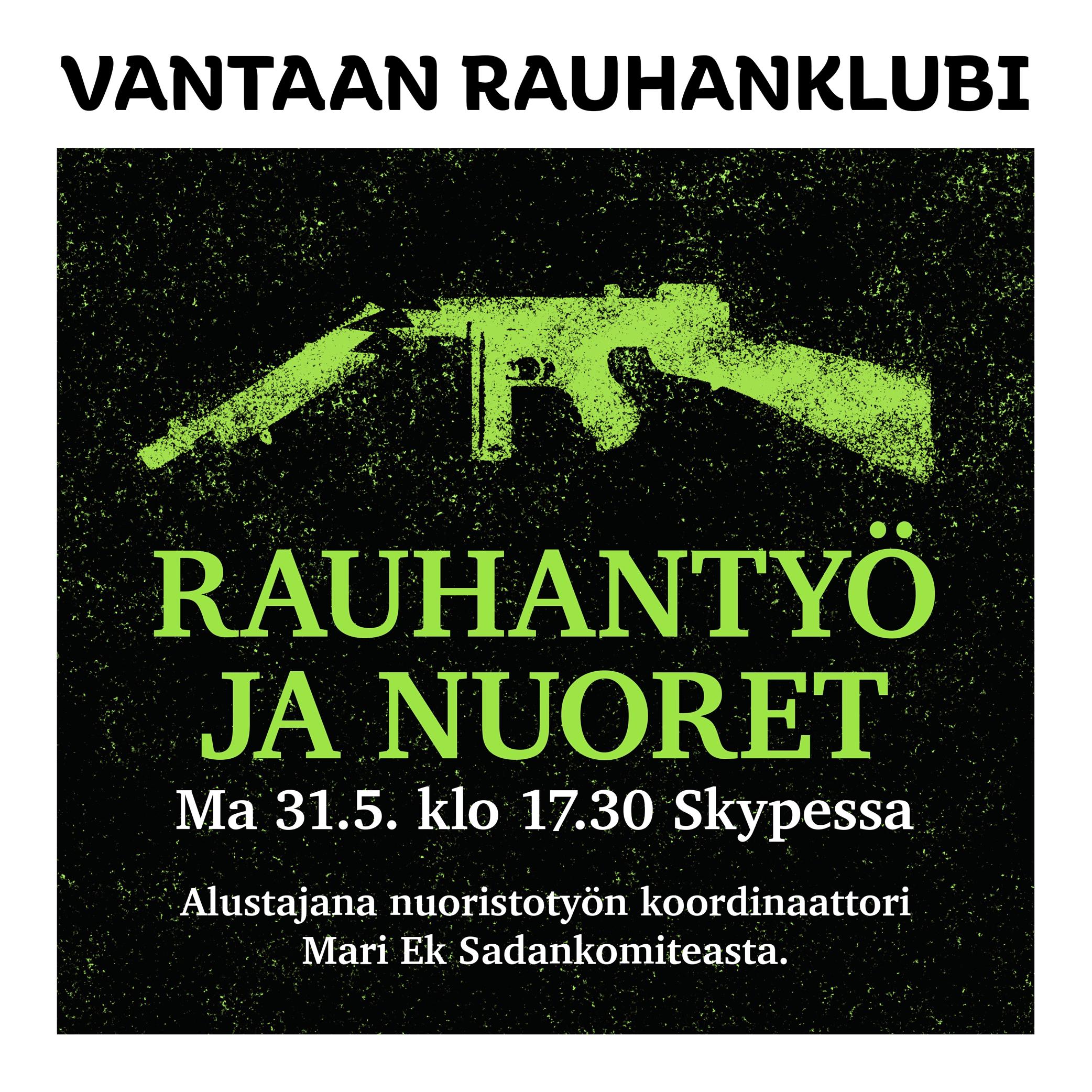 Vantaan rauhanklubi: Rauhantyö ja nuoret