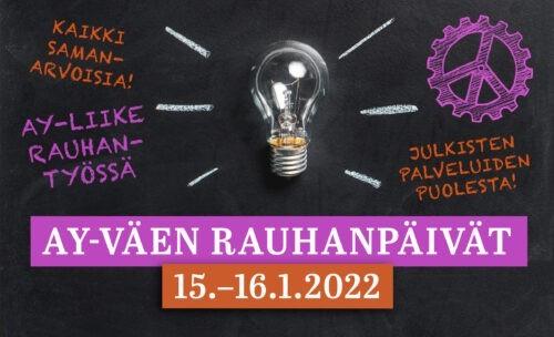 Ay-väen rauhanpäivät 15.-16.1.2022, Hämeenlinna